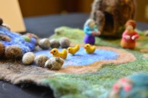 Serene scene on display at the 2014 MU Staff Arts & Crafts Showcase. | Paige Blankenbuehler